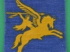 British Army Airborne Patch 6 Field Force HQ Pegasus DZ Patch 1977 printed 62 x 65 mm.