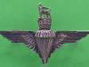 KK 2060. Parachute Regiment Sterling silver. Sweetheart badge. Pin 43x26 mm.