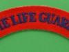 The Life Guards cloth shoulder title. 125x24 mm.