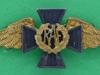 MH71. RAF Chaplains collar badge. Gaunt 55x19 mm.