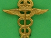 MH73. RAF Medical Services 1920 collar badge. Lugs 24x26 mm.