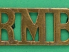 RW 1604. Royal Marine Bands shoulder title. 41x18 mm.