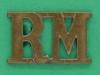 RW1598 Royal Marines shoulder title post 1923. 18x2 9mm.