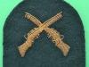 Royal Marine marksman embroidered arm badge. Stephen Simson. 46x40 mm (1)