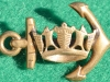 Royal Navy Sweetheart badge, 23 x 33mm
