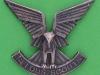 CO3057. Selous Scouts cap badge, officers silver. Reutler Salisbury. Lugs 40x34 mm.