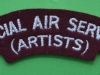 Special Air Service (Artiste) shoulder title. Modern issue. 125x35 mm.