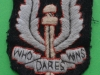 Special Air Service, cloth beret badge ww2 issue. 37x51 mm