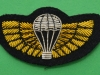 Special Air Service, mess dress para wing. Gold wings and silver parachute. 25x49 mm