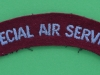 Special Air Servie cloth shoulder title ww2 issue. 105x24 mm (1)