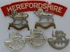 Herefordshire Regiment badge group.