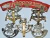Herefordshire Regiment badge group reverse.