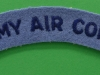 Army Air Corps cloth shoulder title ww2 issue. 130x22 mm.