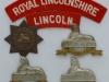 The Lincolnshire Regiment badges.