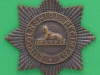 KK 1957. The Lincolnshire Regiment. Officers bronce cap badge. Folding blades replaced by lugs. 51 mm.