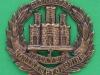 KK 666. The Northamptonshire Regiment all brass or bronce 1916 cap badge. 47x43 mm.