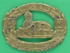 Northamptonshire Regiment Bandsmens pouch badge. 48th and 58th Foot. 91x96 mm.