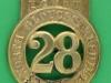 KK 466. 28th Foot North Gloucersteshire 1874-81. 44x79 mm.