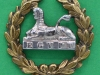 KK 635. The Gloucestershire Regiment back-badge but different, this in bi-metal and larger. Replaced slide  30x28 mm.