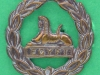 KK 635. The Gloucestershire Regiment back badge officers bronce. Lugs 21 mm.