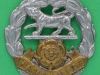 KK 647. TheHampshire Regiment. Slide & brace holes. 42x41 mm.