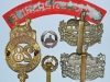 The Gloucestershire Regiment badge group reverse.