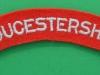 The Gloucestershire Regiment cloth shoulder title.