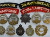 The Hampshire Regiment badges