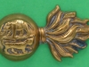 CW273. The Royal Dublin Fusiliers collar badge. 39x21 mm.