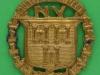 Dublin Regiment National Volunteers cap badge. Lugs 35x37 mm.