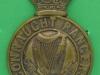 KK 358. Connaught Rangers 1881-1914 Helmet plate. 49x72 mm.