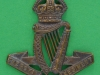 KK 614. The Royal Irish Regiment officers bronz cap badge. Lugs 37x41 mm.