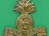 KK 702. Royal Dublin Fusiliers. All brass 1916 economy badge. Slide 41x44 mm.