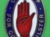 West Belfast Regiment. Ulster Volunteer Force. Lugs 33x49 mm.