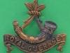 Cox 1632. Royal Guernsey Light Infantry. Slide 39x34 mm.