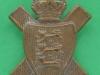 KK 2021. 11th Island of Jersey Battalion, The Hampshire Regiment. Slide 26x32 mm.
