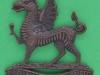 KK 1777. 2nd Battalion, The Monmouthshire Regiment, bronze. Lugs 48x52 mm.