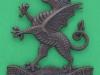 KK 1783. 3rd Battalion, the Monmouthshire Regiment. Bronze, lugs 45x53 mm.