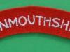 Monmouthshire Regiment cloth shoulder title 125x25 mm.