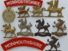 The Monmouthshire Regiment badge group.