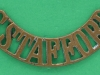 RW1122. South Staffordshire Regt shoulder title 1902. 11x52 mm.