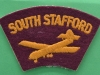South Staffordshire Regiment cloth shoulder title post war period.