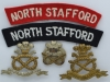 The North Staffordshire Regiment badges.