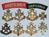 Sherwood Foresters. Nottinghamshire and Derbyshire Regiment badge group reverse.