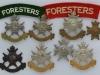 Sherwood Foresters. Nottinghamshire and Derbyshire Regiment badge group.