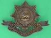 KK 636. The Worcestershire Regiment all brass badge 1916. Slide 56x42 mm.