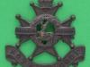 KK 662. Sherwood Foresters. Nottinghamshire and Derbyshire Regiment, Officers bronce cap badge. Lugs replaced Gaunt 43x44 mm.