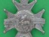 KK 662. Sherwood Foresters. Nottinghamshire and Derbyshire Regiment. Scroll removed. Slide 32x38 mm.