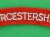 The Worcestershire Regiment cloth shoulder title. 120x21 mm.