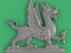 CW223. The Welch Regiment after 1951 collar badge. 33x30 mm.